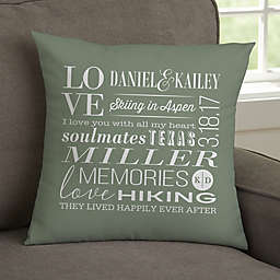 Better Together Personalized Throw Pillow