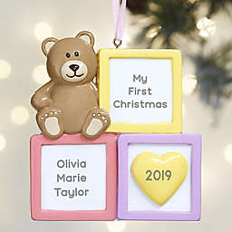 Baby Girl Blocks© Personalized Ornament