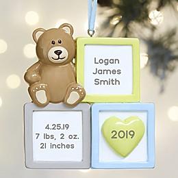 Baby Boy Blocks© Personalized Ornament