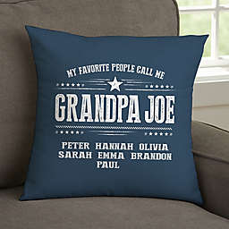 My Favorite People Call Me Personalized 14-Inch Throw Pillow