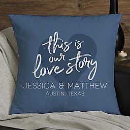 Our Love Story Personalized 18-Inch Throw Pillow