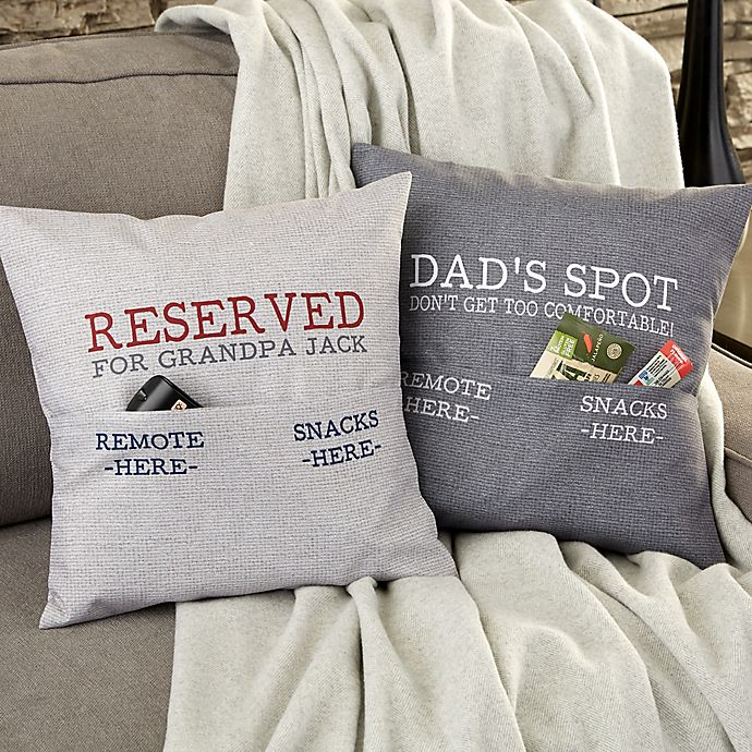 Alternate image 1 for For Him Personalized Pocket Pillow