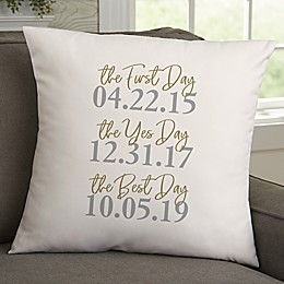The Best Day Personalized Throw Pillow