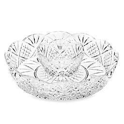 Godinger Dublin Crystal Silver Mini Chip and Dip Server