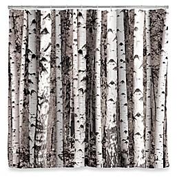 Kikkerland® Design Birch Shower Curtain