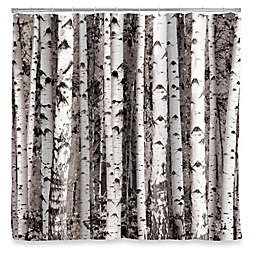 Kikkerland® Design Birch Shower Curtain