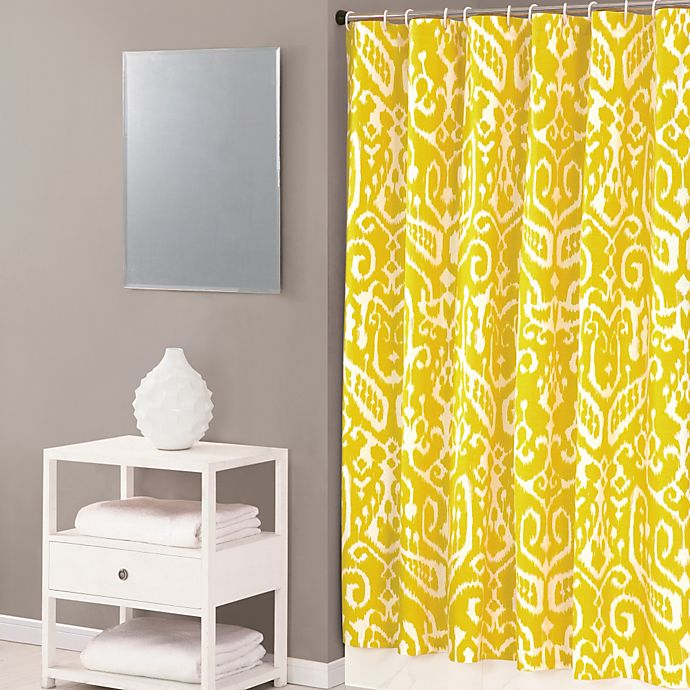 Alternate image 1 for Trina Turk® Ikat 72-Inch x 72-Inch Shower Curtain in Yellow