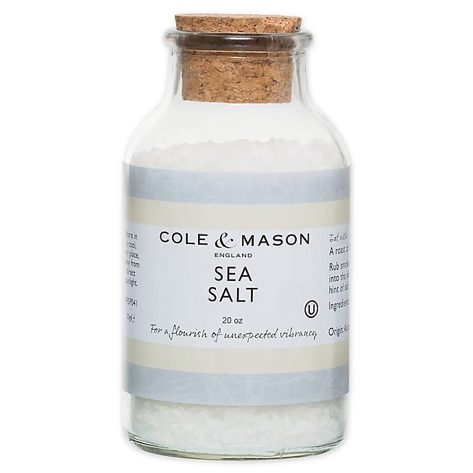 Alternate image 1 for Cole & Mason 20 oz. Sea Salt Refill