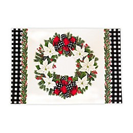 Laural Home® Christmas Trimming Placemats in Red/White/Green (Set of 4)