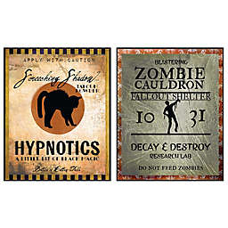 Courtside Market Hypnotic & Zombie 26-Inch x 34-Inch Gallary Art Decals (2-Piece Set)