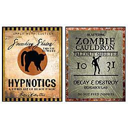 Courtside Market Hypnotic & Zombie 26-Inch x 34-Inch Gallary Art Decals (2-Piece Set)