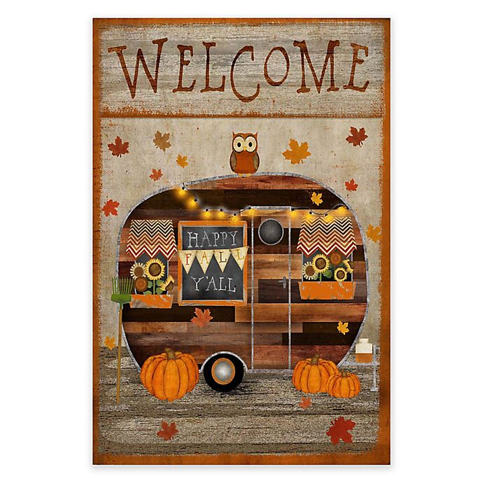 Alternate image 1 for Courtside Market Camper Fall Flag 18-Inch x 24-Inch Gallery Art Decal
