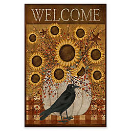 Courtside Market Sunflowers Welcome Flag 18-Inch x 24-Inch Gallery Art Decal