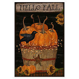 Courtside Markte Hello Fall Flag 18-Inch x 24-Inch Gallery Art Decal