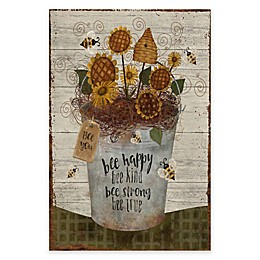 Courtside Market Bee Happy Bucket 18-Inch x 24-Inch Gallery Art Decal