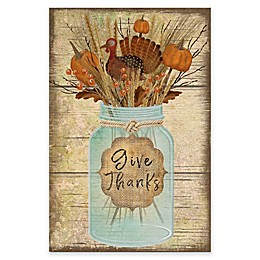 Courtside Market Give Thanks Jar 18-Inch x 24-Inch Gallery Art Decal