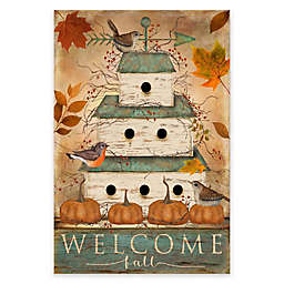 Courtside Market Welcome Fall Birdhouse 18-Inch x 24-Inch Gallery Art Decal