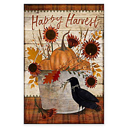 Courtside Market Happy Harvest Crow Bucket 18-Inch x 24-Inch Gallery Art Decal
