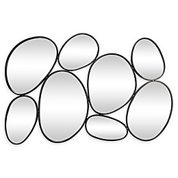 Ridge Road Décor Geometric 35-Inch x 54-Inch Oval Wall Mirror in Black