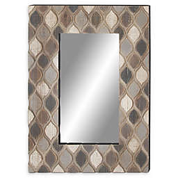 Ridge Road Decor 40-Inch x 28-Inch Rectangle Ogee Wall Mirror