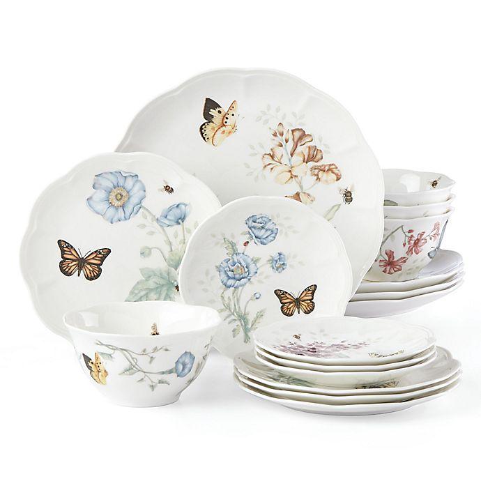 Alternate image 1 for Lenox® Butterfly Meadow® 16-Piece Dinnerware Set