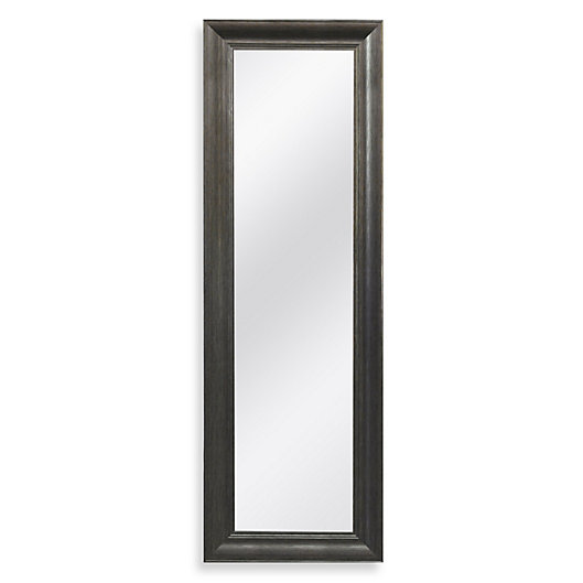 Alternate image 1 for No-Tools Over-the-Door Mirror in Pewter