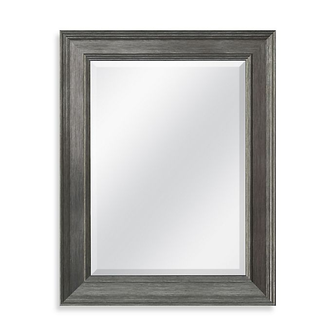 Alternate image 1 for 21.25-Inch x 27.5-Inch Decorative Mirror in Grey