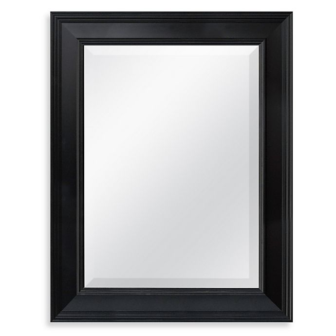 Alternate image 1 for 21.25-Inch x 27.5-Inch Decorative Mirror in Black