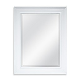 21.25-Inch x 27.5-Inch Large Decorative Mirror in White