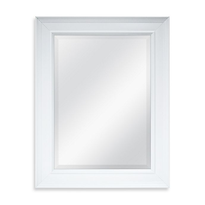 Alternate image 1 for 21.25-Inch x 27.5-Inch Large Decorative Mirror in White