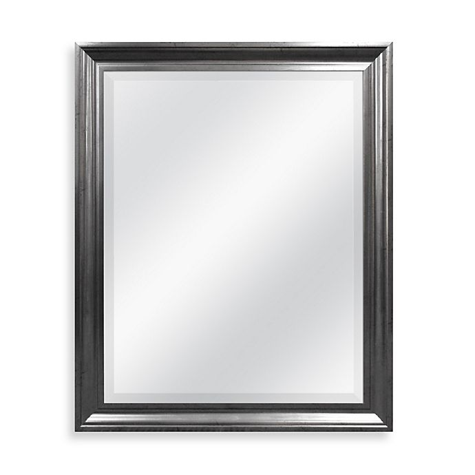 Alternate image 1 for Decorative Mirror in Antiqued Pewter Finish