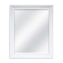 Decorative 26.5-Inch x 32.5-Inch Large Mirror in White
