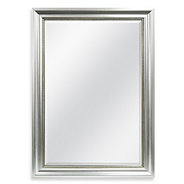Decorative 30.25-Inch x 42.25-Inch Large Wall Mirror in Silver