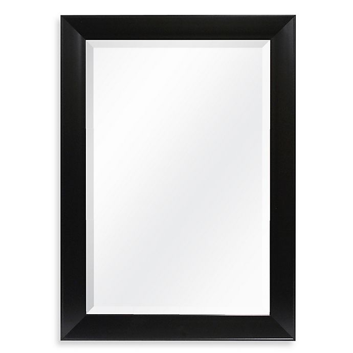Alternate image 1 for Decorative 42.25-Inch x 30.25-Inch Wall Mirror in Black