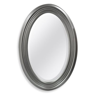 Decorative Oval Mirror With Silver Finish Bed Bath And