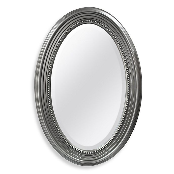 rectangular wall mirrors decorative.htm decorative oval mirror with silver finish bed bath   beyond  oval mirror with silver finish