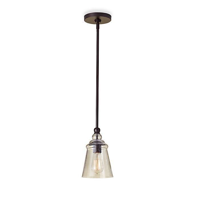 Alternate image 1 for Feiss® Oil Rubbed Bronze Mini Pendant Light