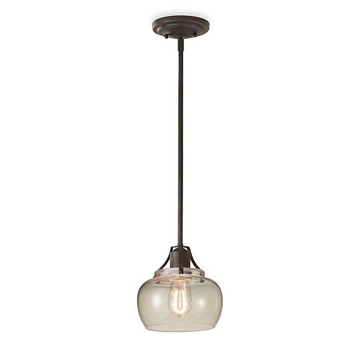 Alternate image 1 for Feiss® Rustic Iron Mini Pendant Light