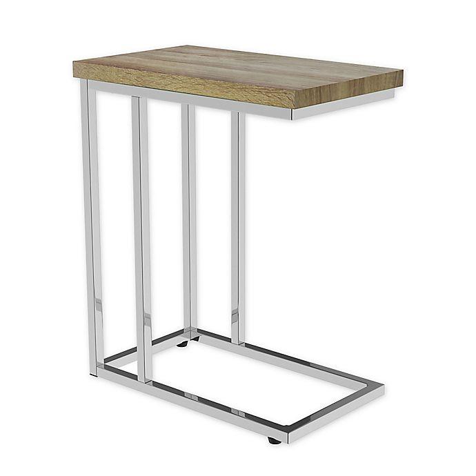 Lavish Home C Shaped Sofa Side Table