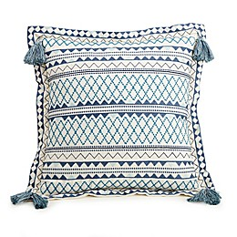 Jessica Simpson Bonnie 18-Inch Square Throw Pillow in Blue