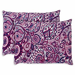 Ivory Ella Carina Standard Shams in Berry (Set of 2)
