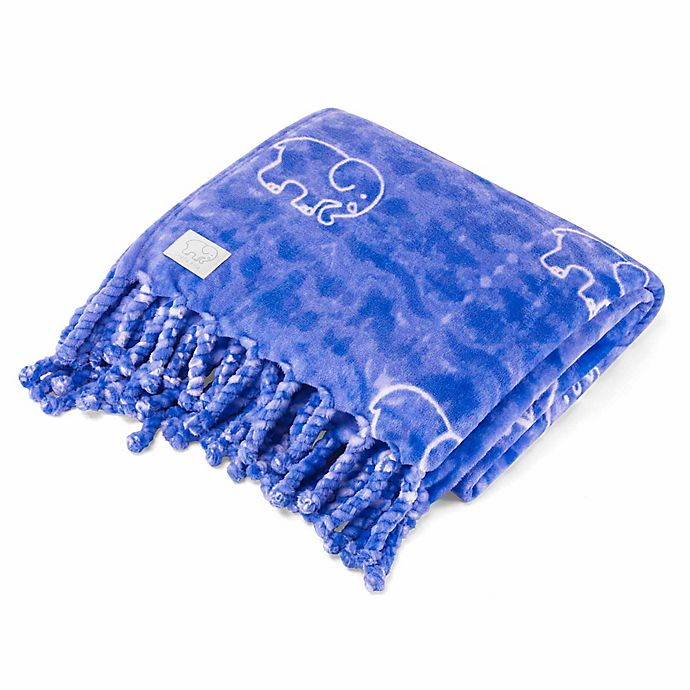 Alternate image 1 for Ivory Ella® Gia Throw in Blue