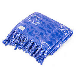 Ivory Ella® Gia Throw in Blue