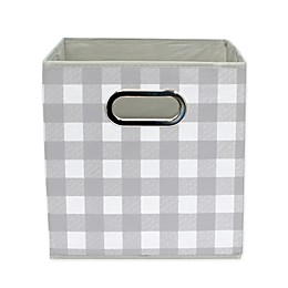 Relaxed Living Buffalo Check 11-Inch Collapsible Storage Bin