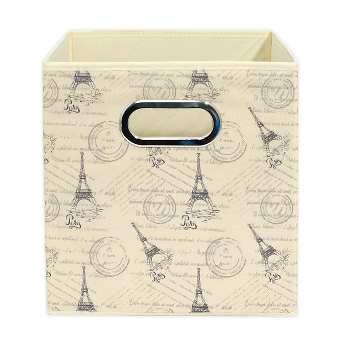 Alternate image 1 for Relaxed Living Paris Obal 11-Inch Square Collapsible Storage Bin
