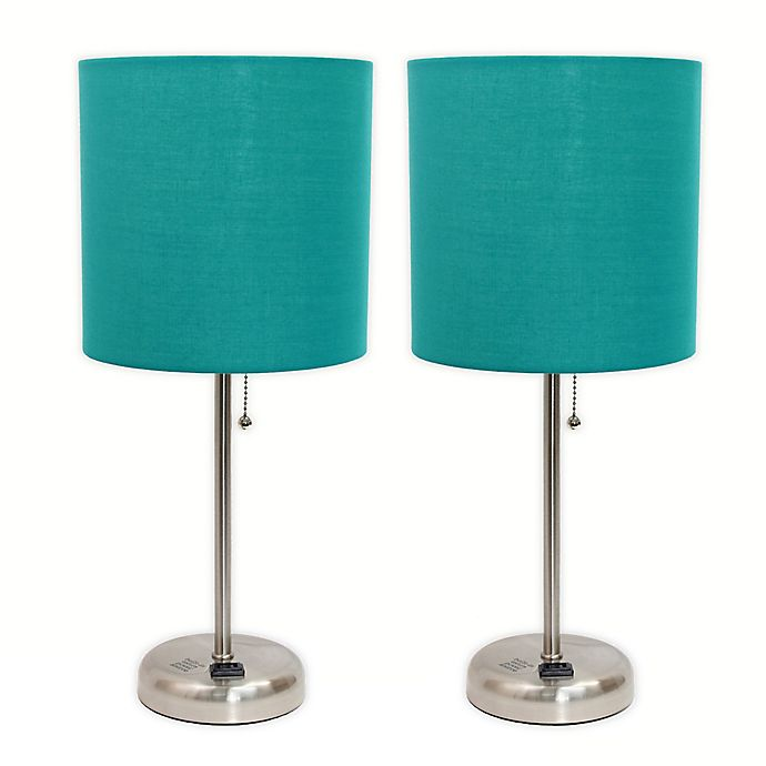 Alternate image 1 for LimeLights Stick Table Lamp with Charging Outlet