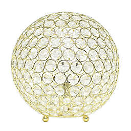Elegant Designs Elipse 10-Inch Crystal Ball Table Lamp in Gold