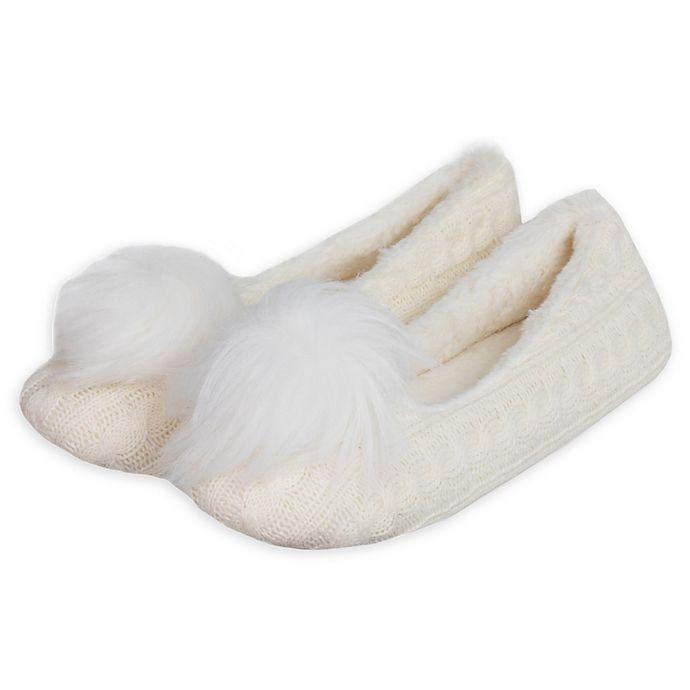 Alternate image 1 for Loft Living Women's Memory Foam Ballet Slippers