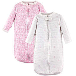 Hudson Baby® Size 3-9M 2-Pack Script Wearable Blankets in Pink