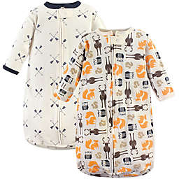Hudson Baby® Size 3-9M 2-Pack Forest Wearable Blankets in Orange